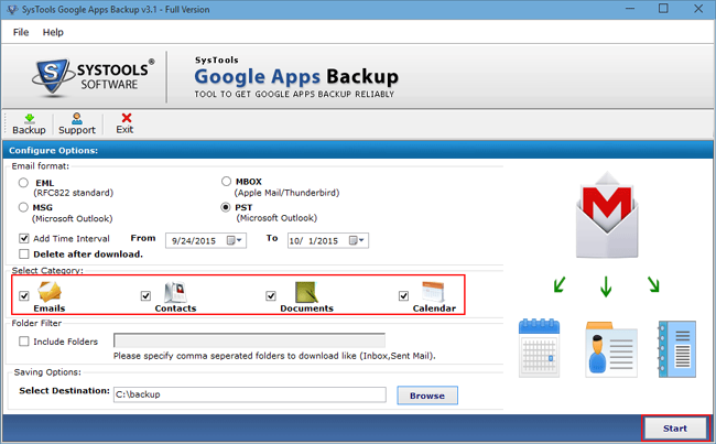 Google Apps Email Backup 3.1