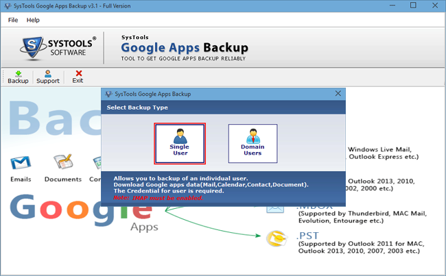 Google Apps Backup Tool To Export G Suite Email, Contacts